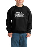 Made in Germany All Original Parts Kids SweatShirt White-Gildan-Daataadirect.co.uk