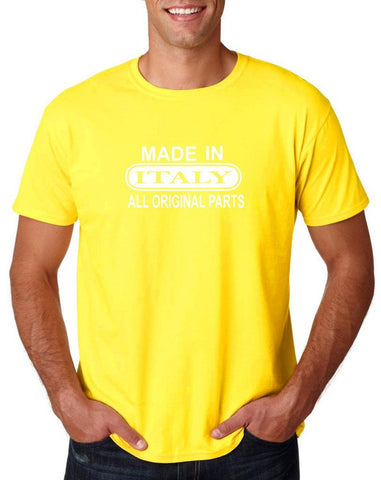 Made In Italy All Orignal Parts Men T Shirts White-Gildan-Daataadirect.co.uk