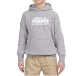 Made in Kuwait All Original Parts Kids Hoodie White-Gildan-Daataadirect.co.uk