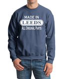 Made In LEEDS All Orignal Parts Men Sweat Shirts White-Gildan-Daataadirect.co.uk