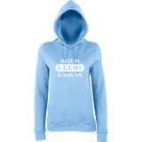 Made In LEEDS All Original Parts Women Hoodies White-AWD-Daataadirect.co.uk