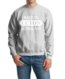 Made In LUTON All Orignal Parts Men Sweat Shirts White-Gildan-Daataadirect.co.uk