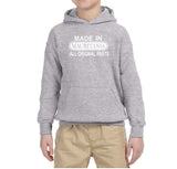 Made in Mauritania All Original Parts Kids Hoodie White-Gildan-Daataadirect.co.uk