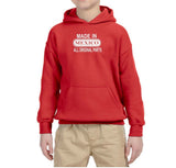 Made in Mexico All Original Parts Kids Hoodie White-Gildan-Daataadirect.co.uk