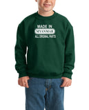 Made in Myanmar All Original Parts Kids SweatShirt White-Gildan-Daataadirect.co.uk