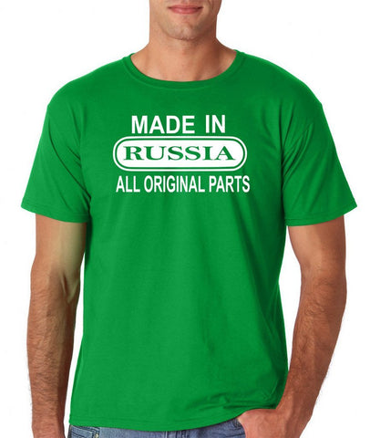 Made In Russia All Orignal Parts Men T Shirts White-Gildan-Daataadirect.co.uk