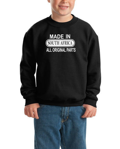 Made in South Africa All Original Parts Kids SweatShirt White-Gildan-Daataadirect.co.uk