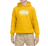 Made in South Korea All Original Parts Kids Hoodie White-Gildan-Daataadirect.co.uk