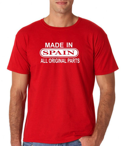 Made In Spain All Orignal Parts Men T Shirts White-Gildan-Daataadirect.co.uk