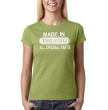 Made In Trinidad and Tobago All Original Parts Women T Shirt White-Gildan-Daataadirect.co.uk