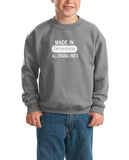 Made in United States All Original Parts Kids SweatShirt White-Gildan-Daataadirect.co.uk