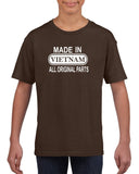 Made In Vietnam All Original Parts Kids T Shirt White-Gildan-Daataadirect.co.uk