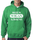 Made In WIGAN All Orignal Parts Men Hoodies White-Gildan-Daataadirect.co.uk