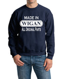 Made In WIGAN All Orignal Parts Men Sweat Shirts White-Gildan-Daataadirect.co.uk