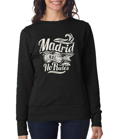 Madrid Has No Rules Women SweatShirts White-Anvil-Daataadirect.co.uk