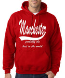 MANCHESTER Probably The Best City In The World Mens Hoodies White-Gildan-Daataadirect.co.uk
