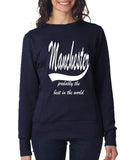 MANCHESTER Probably The Best City In The World Womens SweatShirts White-ANVIL-Daataadirect.co.uk