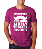 Men with mustache make history Mens T Shirt White-Gildan-Daataadirect.co.uk