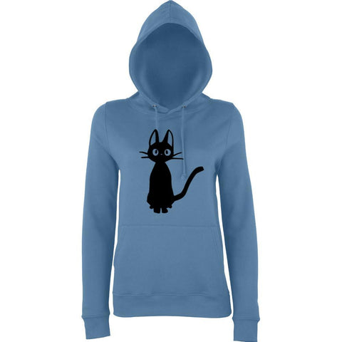 Meow Cat Lover Women Hoodies Black-AWD-Daataadirect.co.uk