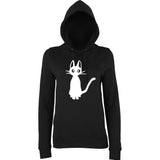 Meow Cat Lover Women Hoodies White-AWD-Daataadirect.co.uk