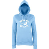 Mermaid Brigade Women Hoodies White-AWD-Daataadirect.co.uk