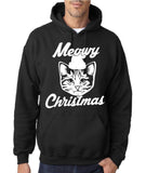 Merry Christmas Cat Mens Hoodies-Gildan-Daataadirect.co.uk