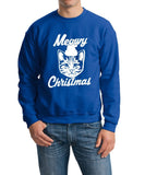 Merry Christmas Cat Mens SweatShirt-Gildan-Daataadirect.co.uk