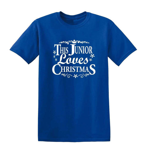 Merry Christmas This Junior Loves Christmas Kids T Shirts-Gildan-Daataadirect.co.uk