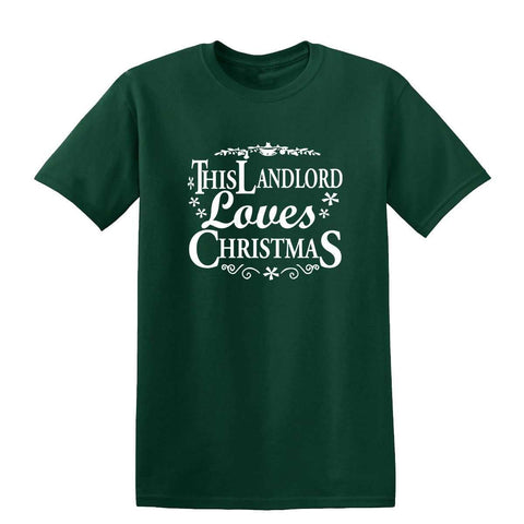 Merry Christmas This Land Lord Loves Christmas Mens T-Shirt-Gildan-Daataadirect.co.uk