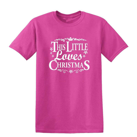 Merry Christmas This Little Loves Christmas Kids T Shirts-Gildan-Daataadirect.co.uk