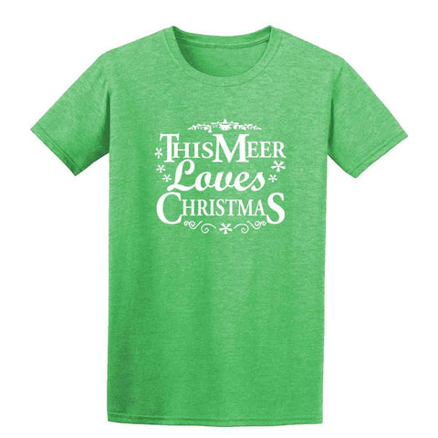 Merry Christmas This Meer Loves Christmas Mens T-Shirt-Gildan-Daataadirect.co.uk