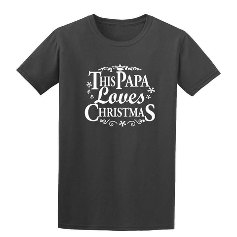Merry Christmas This Papa Loves Christmas Mens T-Shirt-Gildan-Daataadirect.co.uk