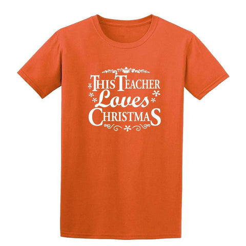 Merry Christmas This Teacher Loves Christmas Mens T-Shirt-Gildan-Daataadirect.co.uk