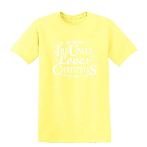 Merry Christmas This Uncle Loves Christmas Mens T-Shirt-Gildan-Daataadirect.co.uk