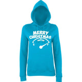 Merry Christmas Womens Hoodies White-AWD-Daataadirect.co.uk