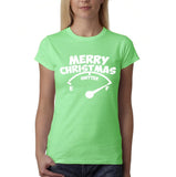 Merry Christmas Womens T Shirt-Gildan-Daataadirect.co.uk