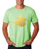 Mickey Hands - Air Soft Gun Mens T Shirt Gold-Gildan-Daataadirect.co.uk