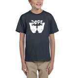 Mickey Hands - Dope Kids T Shirt White-Gildan-Daataadirect.co.uk