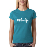 Mom,s Life Women T Shirts White-Gildan-Daataadirect.co.uk
