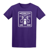 Motorcycle Community Live Ride Mens T Shirts-Gildan-Daataadirect.co.uk