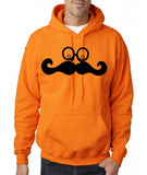 Mustache face Mens Hoodies Black-Gildan-Daataadirect.co.uk