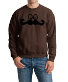 Mustache Face Mens SweatShirt Black-Gildan-Daataadirect.co.uk