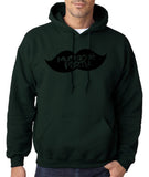 Mustache Party Mens Hoodies Black-Gildan-Daataadirect.co.uk