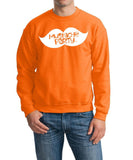 Mustache Party Mens SweatShirt White-Gildan-Daataadirect.co.uk
