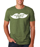 Mustache Party Mens T Shirt White-Gildan-Daataadirect.co.uk