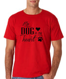 My Dog Is My Heart Black Mens T Shirt-Gildan-Daataadirect.co.uk