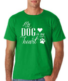 My Dog Is My Heart White Mens T Shirt-Gildan-Daataadirect.co.uk