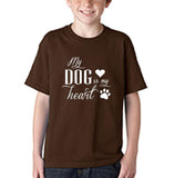 My Dog My Heart White Kids T Shirt-Gildan-Daataadirect.co.uk