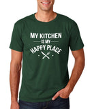My kitchen is my happy place Mens T Shirts White-Gildan-Daataadirect.co.uk