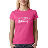 My Patronus Is A Direwolf Womens T Shirt White-Gildan-Daataadirect.co.uk